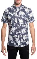 7 Diamonds 'Better Place' Trim Fit Floral Short Sleeve Woven Shirt