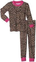 Sara's Prints Girls 2 Piece Print Pajama Set, Kids