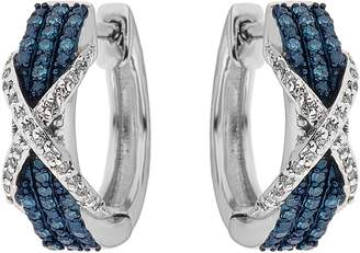 Affinity Diamond Jewelry Blue & White Diamond Earrings, Sterling, 1/4 cttw, by Affinit