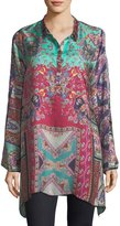 Johnny Was Meco Printed Silk Twill Tunic