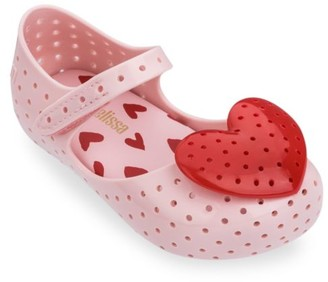 Mini Melissa Baby's, Little Girl's & Girl's Heart Detail Flats