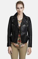 Alexander McQueen Peplum Hem Leather Jacket