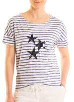Olsen Stars and Stripes Cotton-Blend Tee