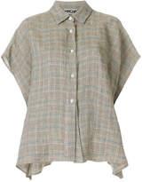 Hache short-sleeve plaid shirt