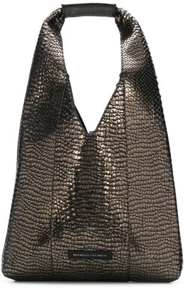 Brunello Cucinelli Crocodile-Effect Hobo Bag