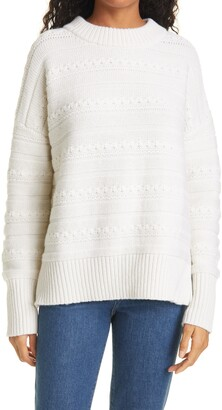 La Ligne Marin Textured Stripe Cashmere Sweater