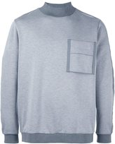 Oamc pocket sweatshirt - men - Polyamide/Polyester/Polyurethane/Virgin Wool - M
