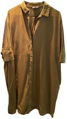 Cos Khaki Cotton Top for Women