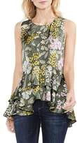 Vince Camuto Tiered Ruffled Hem Floral Blouse
