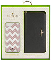 Kate Spade Black Purse and Chevron Case gift set for iPhone 7 Plus/8 Plus