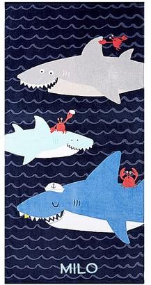 Pottery Barn Kids Sharks Mini Beach Towel