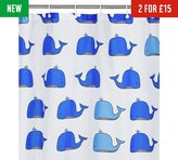 HOME Wally the Whale Shower Curtain