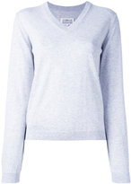 Maison Margiela classic v-neck jumper - women - Cotton - XS