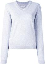 Maison Margiela classic v-neck jumper - women - Cotton - XS