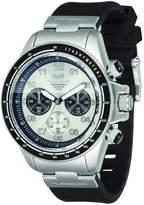 Vestal Men's ZR2CS01 ZR-2 Rubber Chrono Silver Case with Black Silicone Watch