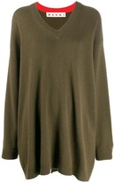 Marni oversized V-neck jumper