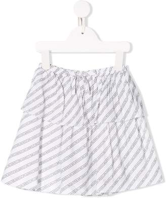 Karl Lagerfeld Paris stripe logo skirt