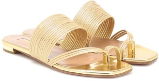 Aquazzura Sunny metallic leather sandals