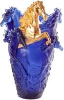 Daum Horse Vase, Blue