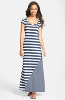 Everleigh Multi Stripe Short Sleeve Maxi Dress