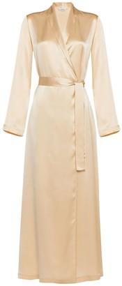 La Perla Long Silk Satin Robe