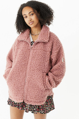 Urban Outfitters Cozy Pink Sherpa Jacket