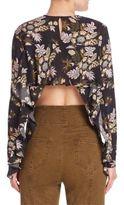 A.L.C. Cooper Silk Cropped Back Top