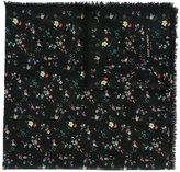 Saint Laurent floral square scarf - women - Wool - One Size