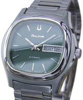 Bulova Stainless Steel Automatic Mens 37mm Watch 1970s