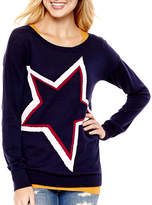 Arizona Long-Sleeve Pullover Tunic Sweater - Juniors