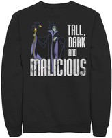 Disney Men's Disney's Sleeping Beauty Maleficent Tall Dark And Malicious Fleece