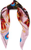 Mary Katrantzou Printed Silk-twill Scarf - Pink