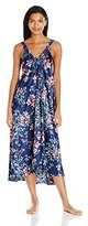 Oscar de la Renta Women's Printed Silky Charmeuse Long Gown