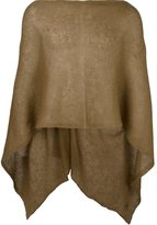 Al Duca D'Aosta 1902 - sheer knitted short cape - men - Acrylic/Polyamide/Mohair - One Size