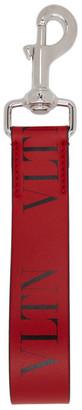 Valentino Red and Black Garavani VLTN Keychain