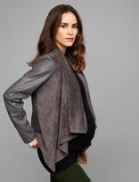 A Pea in the Pod Blank NYC Drape Front Maternity Jacket