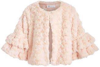 Bonnie Jean Little Girls Ruffled Faux-Fur Jacket