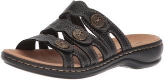 Clarks Leisa Grace Black Leather 10
