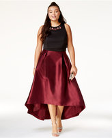 City Chic Trendy Plus Size Embellished High-Low Dress