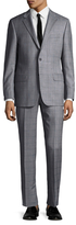 Hickey Freeman Woo Checkered Notch Lapel Suit