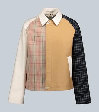 Marni Paneled checked jacket