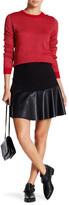 Joe Fresh Faux Leather Trim Flutter Skirt