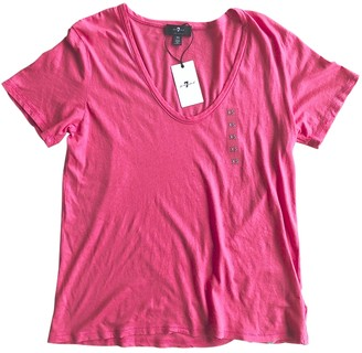 7 For All Mankind Pink Cotton Top for Women