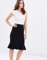 Forcast Piper Fluted Knitted Skirt