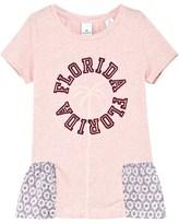 Scotch R'Belle Pink Stripe and Printed Peplum Florida Tee