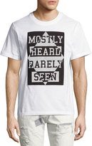 Mostly Heard Rarely Seen Argyle Inverted Logo T-Shirt, White