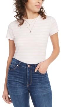 Ultra Flirt Juniors' Rib-Knit Crew-Neck T-Shirt