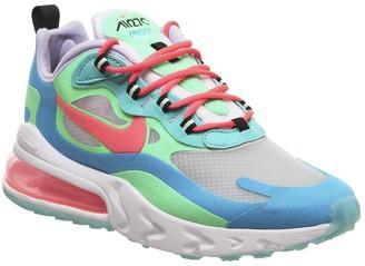 Nike 270 React Trainers Electro Green Flash Crimson