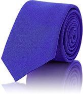 Alexander Olch MEN'S SOLID NECKTIE-BLUE