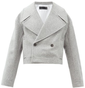 Haider Ackermann Caban Double-breasted Wool-blend Coat - Grey